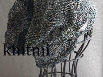 【シルク&麻】ゆるっと柔らか すっぽりOK★涼しいニット帽子 クローバーの画像