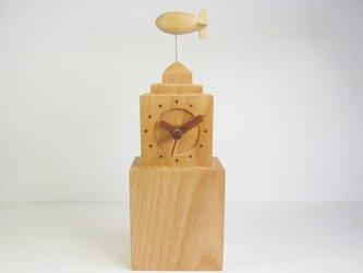 NYの飛行船 置時計の画像