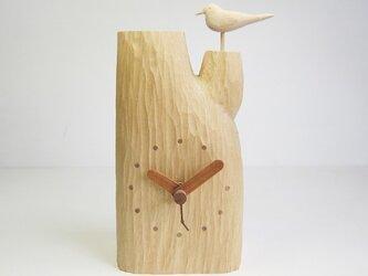 小鳥の置時計の画像