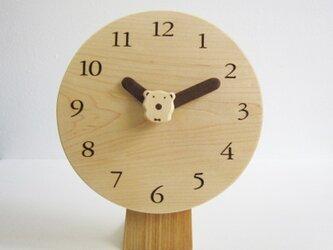 ラウンド polar bear 置・掛時計の画像