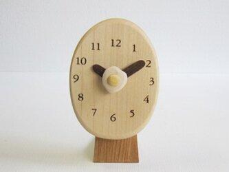 卓上タマゴ 置時計の画像