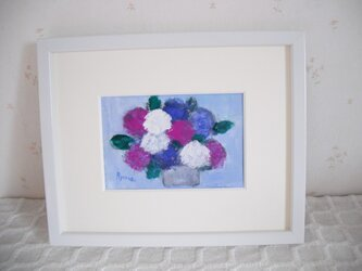 Flower058(紫陽花 原画一点もの)の画像