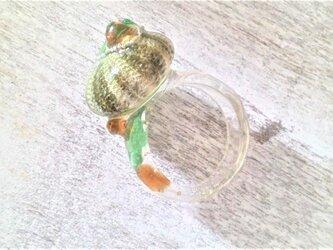 蓄光☆ウニとシーグラスの指輪の画像