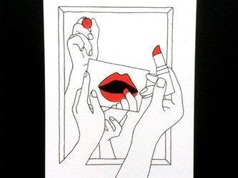 「makeup」ポストカードセットの画像