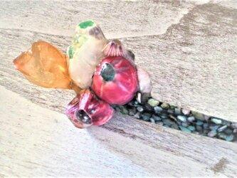 蓄光☆螺鈿風ウミホオズキとフジツボのかんざしの画像