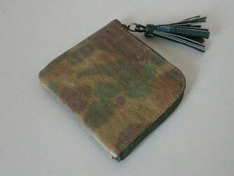 カモフラ ウオレット 革の画像