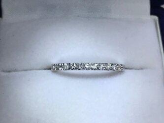 【受注製作】18K 2mm幅0.2ct. ダイヤモンドハーフエタニティーリングの画像