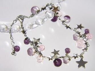 ★ブレスレット  紫×ピンクの画像