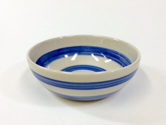Bowl/S(Border pattern-blue)の画像