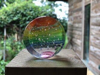 丸い虹の画像