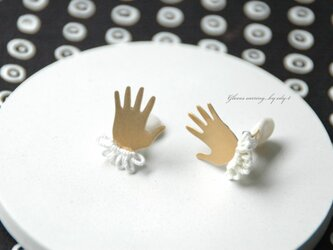 gloves earring/whiteの画像