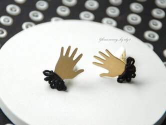 gloves earring/blackの画像