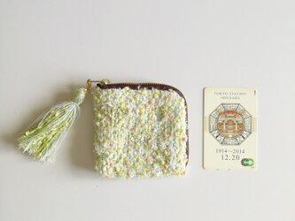 noriko tweed  夏凪 カードポーチ 手織り コスメ コイン の画像