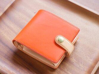 二つ折り財布 カラーオーダーの画像