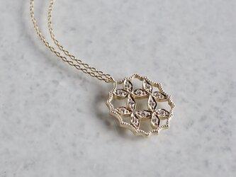 4 petal flower necklace Ⅲ[P066K10YG]の画像