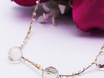 オニオンカットレモンクォーツネックレスの画像