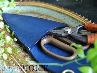 イタリアンオイルレザー・フローリストケース(アルノブルー)の画像