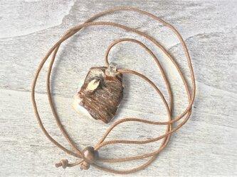 レア☆桜の木目の貝のネックレスの画像