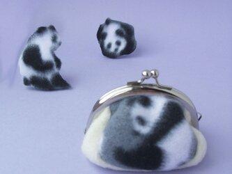 パンダのがまぐち(受注製作)の画像