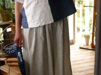 縦縞久留米絣綿100袴パンツの画像
