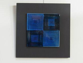 Blue Square (陶板)の画像