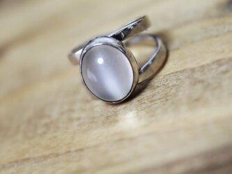 天然石ムーンストーン silver ピンキーリング 5.5号の画像