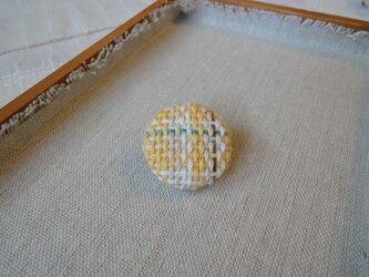 手織り ブローチ 黄色シリーズ 丸・小4の画像