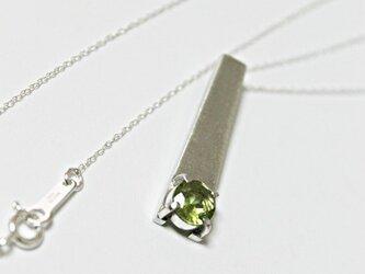 天然石ペリドット silver ペンダントトップ 1点物の画像