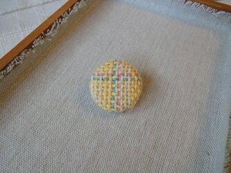 手織り ブローチ 黄色シリーズ 丸・小5の画像