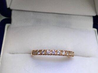 【受注製作】18K 3mm幅 0.3ct. ダイヤモンドハーフエタニティーリングの画像