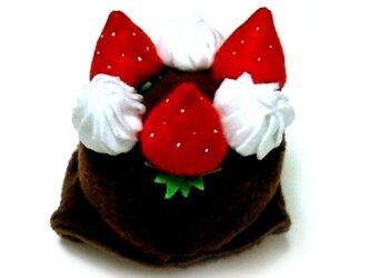 チョコケーキのかぶりもの(帽子)【S/M/L】の画像