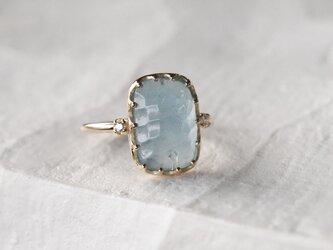 アクアマリン指輪の画像