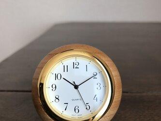 ケヤキのボール時計の画像