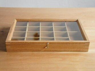 木製アクセサリーケース オーク(小物入れ・ジュエリーボックス)の画像