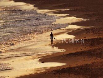 稲村ヶ崎夕景  PH-A4-012  写真  鎌倉 湘南 海岸 砂浜 波 湘南 少女の画像