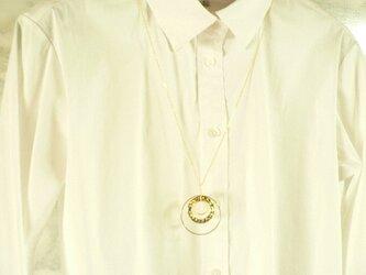 まるまるまる 三種のリングパーツのゴールドネックレスの画像