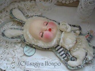 ビンテージ50s眠りヒメウサギさんの装着ドールポーチ* の画像