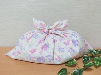 あずま袋 (大)ウミガメ ホヌ ピンク バッグの中見え防止にもの画像