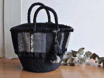 織布×サイザルバッグ ~KURO 絹~の画像