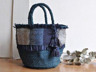 織布×サイザルバッグ ~AI 絹~の画像