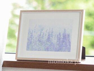 和紙でつづるラベンダーの季節 (額無し 裏打ちあり)の画像