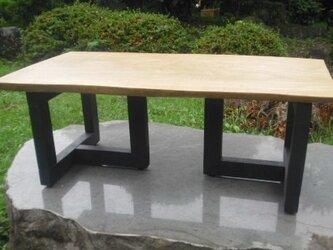 さくら板 アイアン脚風 ローテーブルの画像