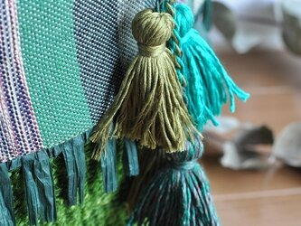 タッセルバッグチャーム(織布×サイザルバッグ用)の画像