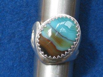 ピクチャーアゲートのリングの画像