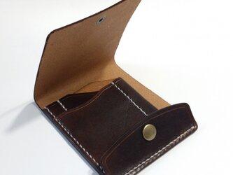 【右開口カードポケット2 Dブラウン】薄型シンプル札ばさみ MC-08dbマネークリップ ヌメ革の画像