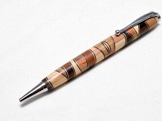 [再出品]【寄木】手作り木製ボールペン スリムライン CROSS替芯の画像