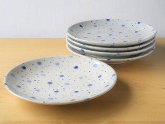 青てんてん皿セットの画像
