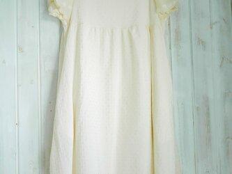 cotton silk  パフスリーブワンピの画像