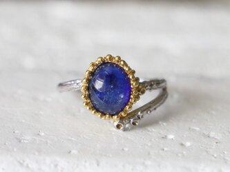 アンティークスタイル*ブルーサファイア 指輪*15号の画像