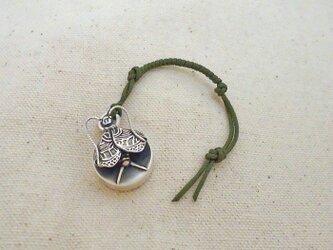 銀製の鈴 『 スズムシ 』 (シルバー925) 根付・バッグチャームの画像